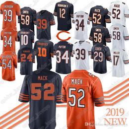 Footballs Free shipping online shopping - 52 Khalil Mack Eddie Jackson Mitchell Allen Robinson II Howard Roquan Smit jersey