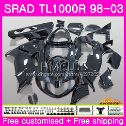 fairings srad Australia - Injection For SUZUKI SRAD TL 1000 R TL1000R 98 99 00 01 02 03 Gloss black 16HM.16 TL1000 R TL 1000R 1998 1999 2000 2001 2002 2003 Fairing