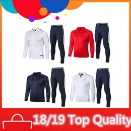 tracksuits thailand 2019 - France soccer tracksuit training suit GRIEZMANN MBAPPE POGBA soccer jacket and pants 18 19 Thailand top quality football