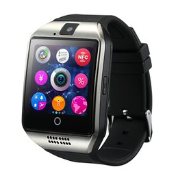 $enCountryForm.capitalKeyWord Australia - Anti-lost Bluetooth Smart Watch Men Q18 With Touch Screen Big Battery Support TF Sim Card Camera for Android Phone Smartwatch