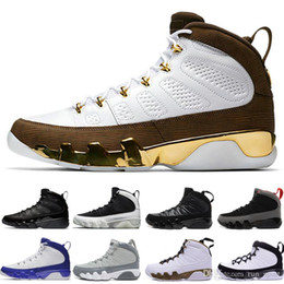 Box Tassel NZ - High Quality 9 9s Bred Space Jam LA Oreo Basketball Shoes Men Cool Grey Tour Yellow The Spirit Anthracite Sneakers With Box