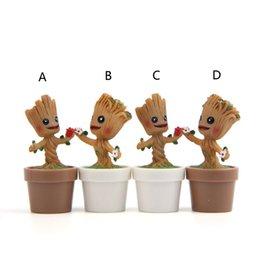 Guardiões da Galáxia resina Brinquedos Boneca 2019 Novo filme Dos Desenhos Animados Action Figure Pequeno Groot flowerpot Brinquedos kid Presente B