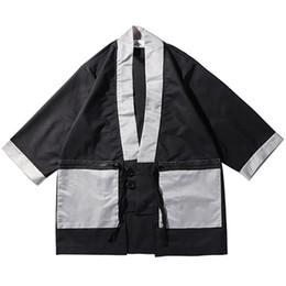 Mens button cardigan online shopping - 2019 Japanese Style Jacket Kimonos Mens Streetwear Clothes Jacket Harajuku Cardigan Japan HipHop Retro Vintage Long Coat Autumn