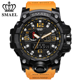 $enCountryForm.capitalKeyWord Australia - SMAEL Men's Watch Top Fashion Brand Luxury Resin Quartz LED Digital Watch Luminous Men's Casual Waterproof Sports Watch Men's Relogio Mascul
