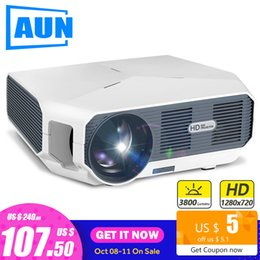 projector 3d Australia - AUN ET HD MINI Projector, 1280x720P, Video Beamer. 3800 Brightness. 3D Cinema. Support 1080P,HD-IN,USB(Optional Android Version)