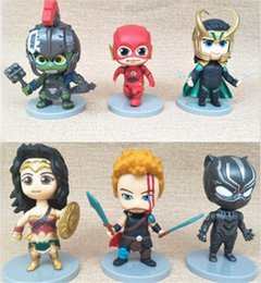 marvel heroes toys Canada - 6 Pcs Lot 10CM Marvel Super Heroes Wonder Woman Action Figures Doll Toys Marvel Doll Best Gifts For Kids Toys