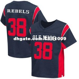 Cheap custom  38 Ole Miss Rebels Navy Football Jersey - College Stitched Customize  any number name MEN WOMEN YOUTH XS-5XL dff65c0f8