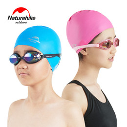 $enCountryForm.capitalKeyWord Australia - Naturehike Children's Swimming Cap Waterproof Sunscreen Fashion Lovely Long Hair Ear Protective Swimming Silicone Baby Diving