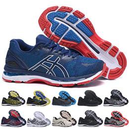 684e465fa asics GEL-Nimbus 20 Estabilidad Zapatillas de correr transpirables para  hombres negro blanco azul rojo para hombre entrenador zapatillas deportivas  de moda ...