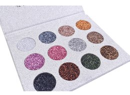 Eyeshadow Palette Full Size UK - DHL Free 12 Colors Eyeshadow Drop Shipping Gold Metallic Eye Shadow Palette Waterproof Glitter Easy to Wear Glod Eye Shadow Making Up
