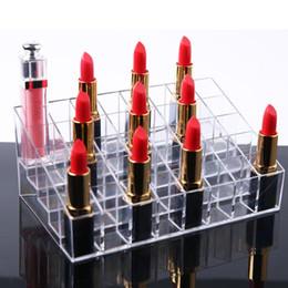 Lipsticks Racks NZ - Behogar Transparent Plastic Lipstick Lip Gloss Eyebrow Pencils Display Stand Rack Holder Organizer for Home Malls Cosmetics