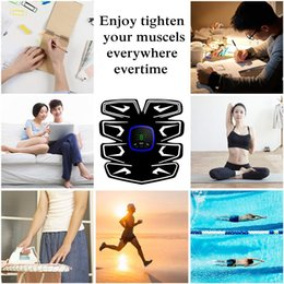 $enCountryForm.capitalKeyWord Australia - ems abs wireless trainer abdominal fitness bands 6 Modes 9 Levels Muscle Toner Rechargeable, Muscle Toner Toning Belt for Men Women with Led