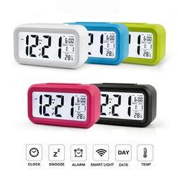$enCountryForm.capitalKeyWord NZ - Electronic LED Alarm Digital Big LED Screen Clock Electric Desktop Clock Data Time Calendar Desk Watch Table Clocks
