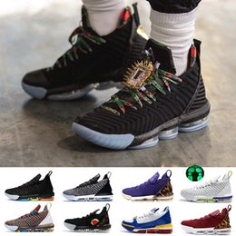 Men Sports Racing Watch Australia - 2019 New arrival Watch The Throne Luxury 16 16s mens Basketball shoes I Promise Oreo 1 Thru 5 King trainers sports shoes 7-13