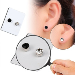 Magnets Uses Australia - Magnetic Magnet Ear Stud Easy Use Crystal Stone Stud Earrings For Women Earrings Therapy Weight Loss Earrings