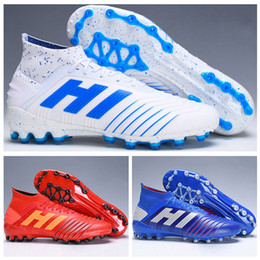 3c7ccfa9f New Mens High Ankle Football Boots Virtuso Predator 19+ Firm Ground ZIDANE  BECKHAM dbzz Cleats Archetic Predator 19.1 AGG Soccer Shoes