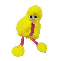 hand puppets for kids 2019 - 14inch Ostrich Decompression Toy Marionette Doll Muppets Animal Muppet Hand Puppets Toys Plush Ostrich Marionette Doll f