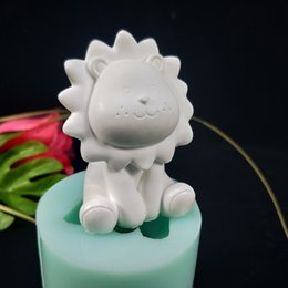 cake candle molds Australia - 3D Animals Mini cute lion Silicone Mold Christmas cake decorating tools DIY chocolate mold candle fondant mousse molds cake tool T200703