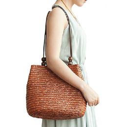 Knitted Ladies Handbags Australia - good quality 2019 New Women's Bag Beach Woven Bags For Summer Travel Straw Bag Designer Shoulder Bag Ladies Knitting Women Handbags
