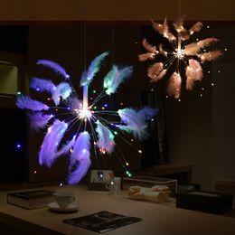 $enCountryForm.capitalKeyWord Australia - hot romantic Valentine's Day favors wedding led light holiday hotel coffee bar String lights Feather Firework Lamp Outdoor garland Lighting