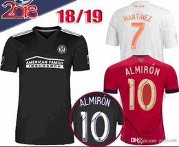 eff61e56fbd 2018 Atlanta United FC Football Shirt ALMIRON 10 MCCANN 16 VILLALBA 15  MARTINEZ 7 GARZA JONES Home Red White Black Customize Soccer Jerseys