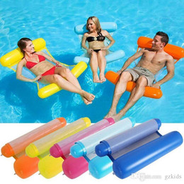 $enCountryForm.capitalKeyWord NZ - New Summer Swimming Pools Inflatable Floating Water Hammock Lounge Bed Chair Summer Inflatable Pool Float Floating Bed
