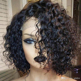 Black chinese women wigs online shopping - Human Hair Curly Lace Front Wigs For Black Women Transparent Hd Lace Virgin Brazilian Glueless Cheap Full Lace Human Hair Wig Pre Plucked