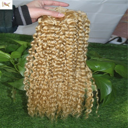 $enCountryForm.capitalKeyWord Australia - Light Blonde Color Indian Curly Hair Extensions 100% Human Hair Weave Bundles 10-28 Inchs Double Weft Hair Weaving 6a Unprocessed