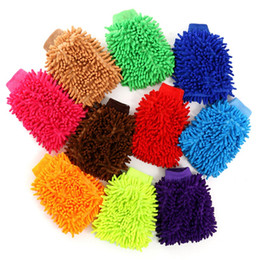 Side motorcycle online shopping - Double Sided Car Wash Gloves Motorcycle Vehicle Auto Cleaning Mitt Glove Equipment Home Duster Colorful Car Cleaning Tools HHA126