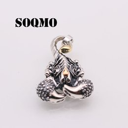 scorpions jewelry NZ - SOQMO 100% Real 925 Sterling Silver Jewelry Men Women Vintage Poison Scorpion Necklace Pendant 2018 Jewelry Making SQM219