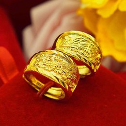 $enCountryForm.capitalKeyWord Australia - Couple brass gold-plated open dragon and phoenix ring for men and women on the ring wedding jewelry