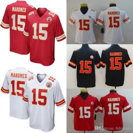 d43c0cf1565 Men Women Youth KANSAS CITY 15 Patrick Mahomes CHIEFS Double Stiched  Football Jerseys Shirt IN STOCK