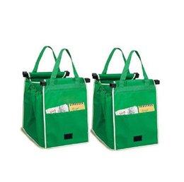 حقيبة تسوق Grab Bag Clip-To-Cart أكياس التسوق البقالة القابلة لإعادة الاستخدام حقيبة تسوق قابلة للطي أكياس تخزين سلال كبيرة الحجم B11
