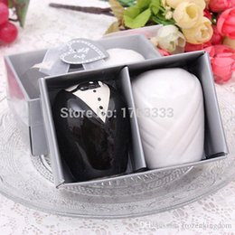Wedding Groom Gifts Australia - Bride and Groom Salt and Pepper Shakers Kitchen Tools Party Favors Wedding Favors and Gifts 50set #TF64 0915#15
