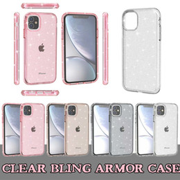 pc iphone 6s clear NZ - For Iphone 11 Clear Armor Bling Phone Case For Iphone XS MAX XR 6 8 Plus 11 Pro Max Glitter Hard PC Cover