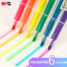 $enCountryForm.capitalKeyWord Australia - M&G 12 Pcs set Muji Style Highlighter Pen Japanese Stationery Fluorescent Color Mark Pen Cute Kawaii for school supplies