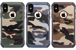 Camouflage Iphone Hard Case Australia - Navy Army Camouflage Pattern Phone Cases Skin For Iphone X Xs Xr Xs Max 7 8 Plus 2 in 1 Hard Plastic + Soft TPU Luxucy Back Cover Shell Case