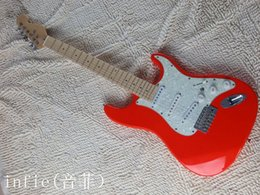 Discount fingerboard free shipping - free shipping 2019 new ST style guitar fingerboard red leds can be changes as required Electric Guitar