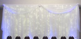 Fabric Curtains For Party Decorations Australia - Wedding Curtain Swag And 10X20ft Backdrop Silk Fabric Draping For Stage Background Party New Year Decoration