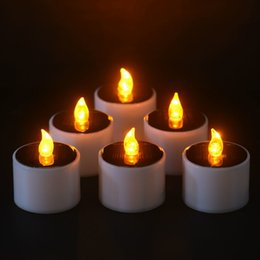 $enCountryForm.capitalKeyWord NZ - 6 Pieces lot New Type Yellow Flicker Power Light Candles Flameless Electronic Led Nightlight Solar Energy Candle Q190529