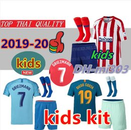 China 2019 2020 GRIEZMANN kids kits Soccer Jerseys Top quality 18  19  20 KOKE DIEGO COSTA GODIN SAUL kids child Madrid football shirt uniforms supplier jersey diego costa suppliers