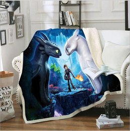 dragon bedding 2019 - How to Train Your Dragon Baby Blankets Kids Digital Printed Blanket Cartoon Sofa Swaddling Lazy Fleece Rugs Carpet Plush