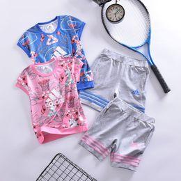 $enCountryForm.capitalKeyWord Australia - The hottest suit short sleeve Children The best Summer new Super hot cotton skin-friendly clothes kids girls autumn sets