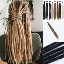 $enCountryForm.capitalKeyWord Australia - 24'' Crochet Afro Dreadlocks Crochet Braiding Hair Extension Synthetic Dreads