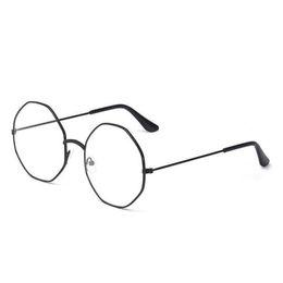 a1f7680cd76 1PC Popular Vintage Irregular Metal Clear Lens Glasses Frame Trendy Unisex  Anti-radiation Spectacle Style Eyeglass Frame