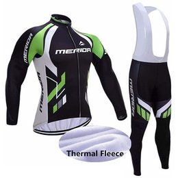 merida cycling jersey sets NZ - hot MERIDA fashion Winter Thermal Fleece Cycling Long Sleeve Jersey Cycling Racing MTB Maillot Bike Bib Long Pants Set size XS-5XL