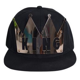 King queen hip hop cap online shopping - Unisex KING QUEEN Letters Baseball Cap Iron Hat Crown Hip Hop Hat Summer Cotton Unconstructed Fashion Unisex Cap Hats