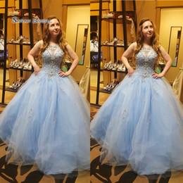 $enCountryForm.capitalKeyWord Australia - Jewel Appliques Sleeveless Tulle Vestidos De Festa Plus Size Evening Wear In Stock Hot Sales High-end Occasion Dress