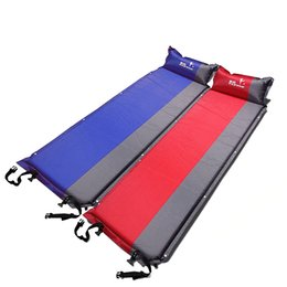 Discount air pillows for sleeping - Moisture-proof Sleeping Pad with Pillow Self inflating Sleeping Pad for Tent Camping Hiking Backpacking Inflatable Air M