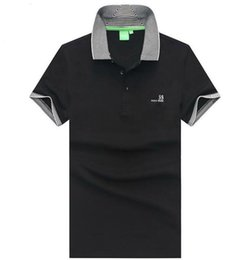 Polo shirt custom online shopping - Bosses Men s Designer Polo Shirt T Shirt Fashion Business Brand Letter Embroidery Polo Hugo Limited Solid Color High Quality Custom Shirt er